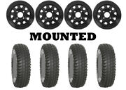 Kit 4 System 3 Xcr350 Tires 30x10-14 On Itp Delta Steel Black Wheels Ter