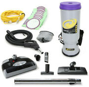 Proteam Super Coachvac 10 Quart Backpack Vacuum Cleaner With Powerhead And 4 Tools