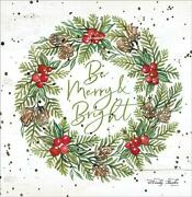 Art Print Framed Or Plaque By Cindy Jacobs - Be Merry And Bright - Cin1630