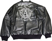 Mlb All Starand039s Autographed Michael Allen All-star Cafe Leather Jacket Jsa