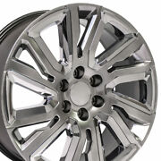 Fits 22x9 High Country Wheels Fit Chevy Gm Hyper Black W/chrome