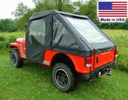 Mahindra Roxor Doors Rear Window And Bed Cover - Soft - Travels Highway Speed