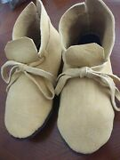 New Custom Made Authentic Smoked Braintanned Deer Moccasins Mukluks Boots