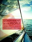 Government By The People National, State, And Local By David B Magleby Used