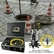 9 360anddeg Pipe Borescope System Camera Rotate Ip68 38led Sewer Inspection Drain