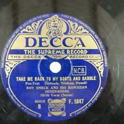 78rpm Roy Smeck Take Me Back To My Boots And Saddle / On Treasure Island Decca