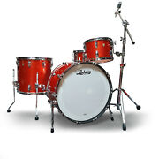 Ludwig Classic Maple 24 Shell Pack Drum Kit W/snare Drum Orange Glitter