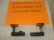 1978 Evinrude Outboard 75hp 3 Cyl 75483c Hood Latches Latch Lever Cover Lock
