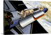 Challenger Space Shuttle Canvas Wall Art Print Outer Space Home Decor