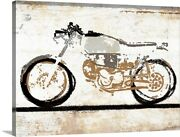 Vintage Motorcycle 1 Canvas Wall Art Print Motorcycle Home Decor