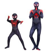 Into The Spider-verse Miles Morales Spiderman Jumpsuit Halloween Costume Cosplay