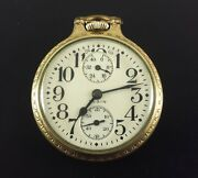 Antique Elgin Pocket Watch Father Time Up And Down Indicator 21 Jewels 16 Size
