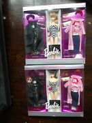 Lot Of 2 35th Anniversary Roman Holiday Barbie Repro Gift Set Brunette And Blonde