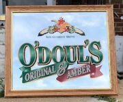 """Anheuser Busch Ab O'doul's Na Beer Original And Amber Bar Man Cave Mirror 23×27"""""""