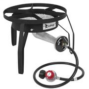 200000 Btu Outdoor Stove Propane Burner Cooking Gas Portable Cooker Bbq Grill