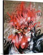 Wake Canvas Wall Art Print Rooster Home Decor
