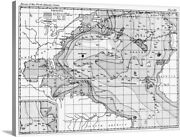 The Physical Geography Of The Sea 1855 Canvas Wall Art Print Map Home Decor