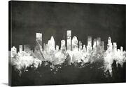 Houston Texas Skyline Canvas Wall Art Print Houston Home Decor