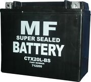 Battery Conventional For 2004 Honda Gl 1800 A4 Gold Wing Abs No Acid
