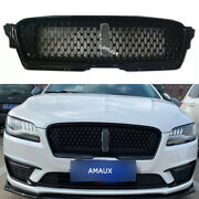 Fit For Lincoln Mkz 2017 2018 2019 Front Upper Grill Bumper Vent Black Grille