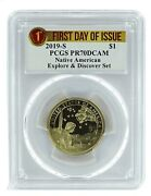 2019 S Sacagawea Dollar Explore And Discover Set Pcgs Pr70 - First Day Of Issue