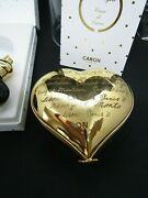 Limited Edition Numbered Caron Perfume In Limoges Heart Box, Montaigne
