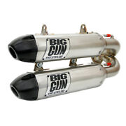 Big Gun Exo Stainless Dual Slip On System Exhaust Pipe Muffler Rzr Rs1 2018+