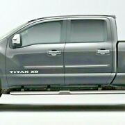 Painted Body Side Moldings With Chrome Insert For Nissan Titan Crew 2016-2021