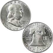 1963 D Franklin Half Dollar Au About Uncirculated 90 Silver 50c Us Coin