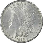 1888 Morgan Dollar Au About Uncirculated 90 Silver 1 Us Coin Collectible
