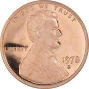1978 S Lincoln Memorial Cent Choice Proof Penny 1c Coin Collectible