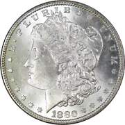 1880 Morgan Dollar Bu Uncirculated Mint State 90 Silver 1 Us Coin Collectible