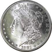 1881 S Morgan Dollar Bu Uncirculated Mint State 90 Silver 1 Us Coin