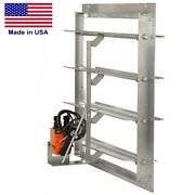 Motorized Damper For 54 Exhaust Or Supply Fans - Galvanized Steel Frame And Blade