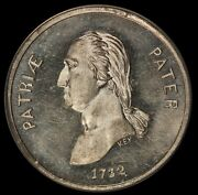 1860s George Washington Virtue Liberty And Independence Wm Medal B-274d - Ngc Unc