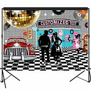 Customized 50s Rock N Roll Diner Backdrop Party Decorate Photography Background