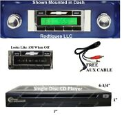 1964-1966 Chevy Truck Radio + Single Disc Cd Changer + Usb + Aux Stereo 630