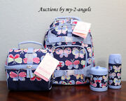Pottery Barn Kids Tropical Butterfly Sm Backpack Lunch Bag Water Bottle Thermos