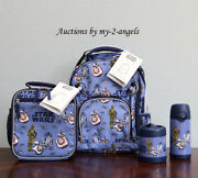 Pottery Barn Kid Star Wars Droids Sm Backpack Lunch Bag Box Water Bottle Thermos