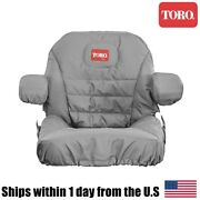 Genuine Oem Toro Z Master Mower Seat Cover With Arm Rests 117-0095