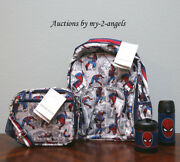 Pottery Barn Kid Allover Spiderman Large Backpack Lunch Bag Water Bottle Thermos
