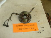 1956 Johnson 3hp Outboard Motor Vintage 50and039s Stator Plate Armature Coils Points