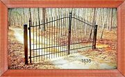 Driveway Gate 14and039ft Wd Ds Wrought Iron Style Steel / Iron Inc Post Package Home