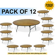 72 Round Wood Folding Table 12 Pcs Table Free Shipping