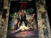 31 Rare Cast Signed By 10 Unreleased Movie Poster Rob Zombie Sheri Richard Brake