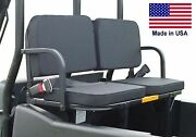 Rear Seats For Mahindra Roxor Mpact Xtv - 350 Lbs Capacity - Safety Belts