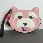 Betsey Johnson Pink Scottie Dog Coin Purse Nwt
