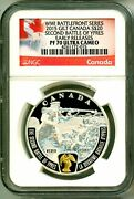 2015 Canada S20 Gilt Wwi Battlefront Series Second Battle Of Ypres Ngc Pf70 Uc