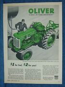 1956 Oliver Tractor Ad  Super 55 Diesel Model Is Featured --big Fuel Savings