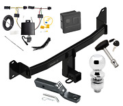 Trailer Tow Hitch For 2018 Bmw X2 Deluxe Package W/ Wiring And 2 Ball And Lock